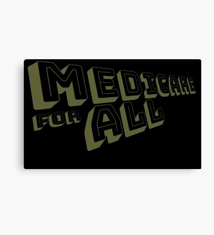 Medicare for All - Yellow Bungee Text Canvas Print