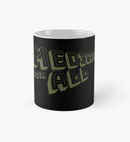 Medicare for All - Yellow Bungee Text Mug