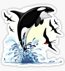 Orca Killer Whale jumping Sticker