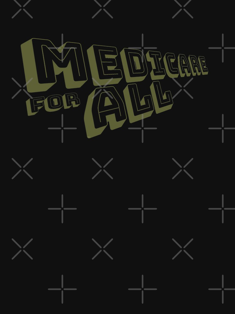 Medicare for All - Yellow Bungee Text by willpate