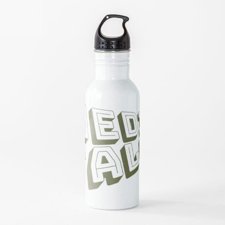 Medicare for All - Yellow Bungee Text Water Bottle
