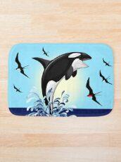 Orca Killer Whale jumping Bath Mat