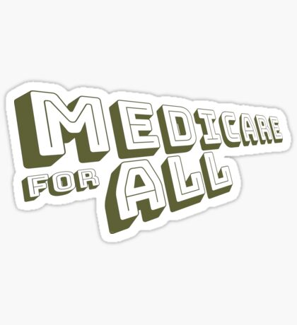 Medicare for All - Yellow Bungee Text Sticker