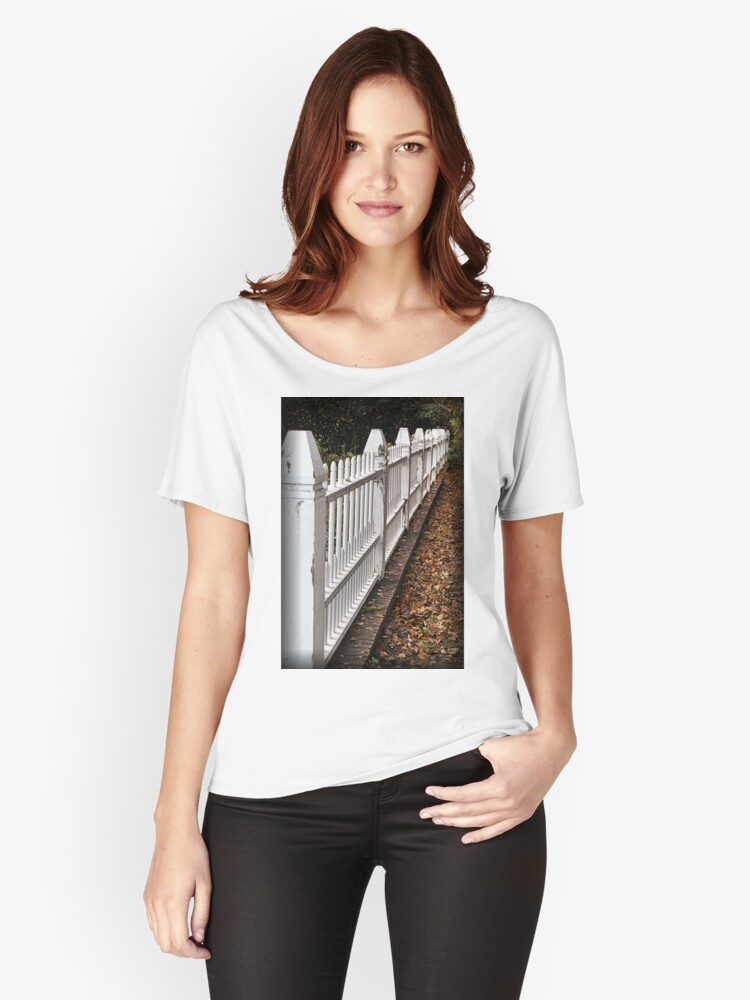 White Picket Fence Women's Relaxed Fit T-Shirt Front