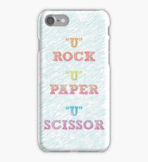 Rock , Paper , scissor  iPhone Case/Skin