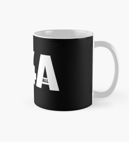 M4A (Medicare for All) White Acronym with Black Text Mug