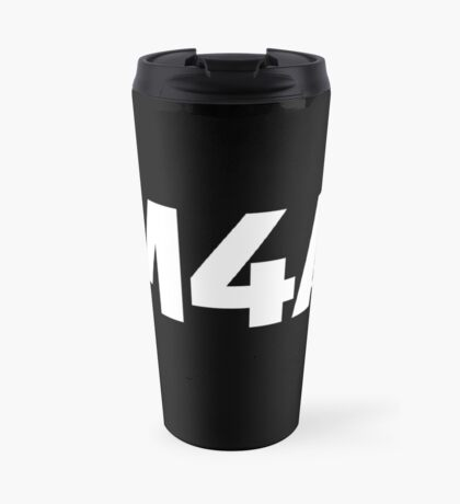 M4A (Medicare for All) White Acronym with Black Text Travel Mug
