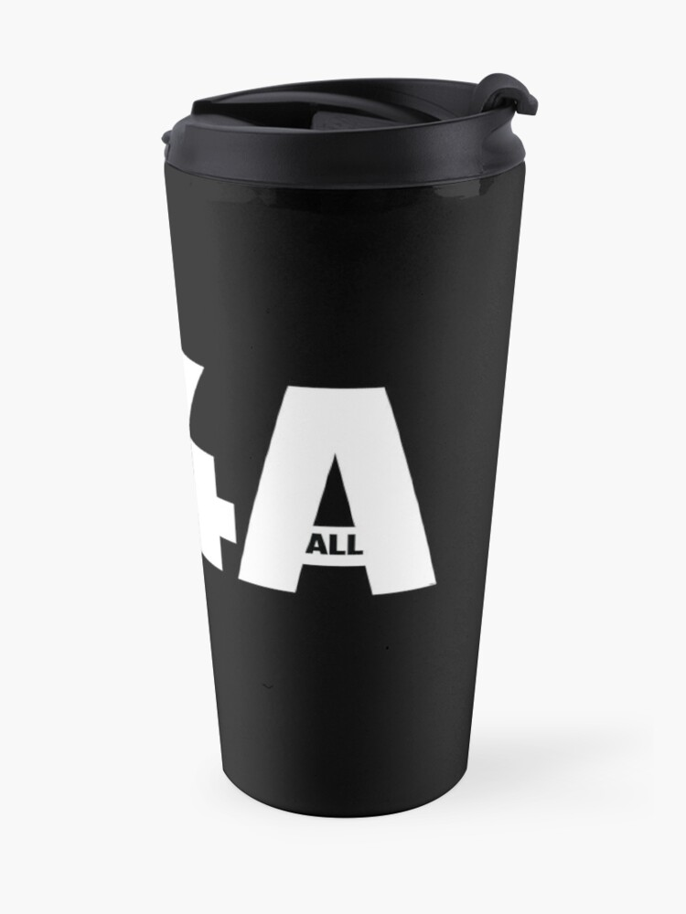 Alternate view of M4A (Medicare for All) White Acronym with Black Text Travel Mug
