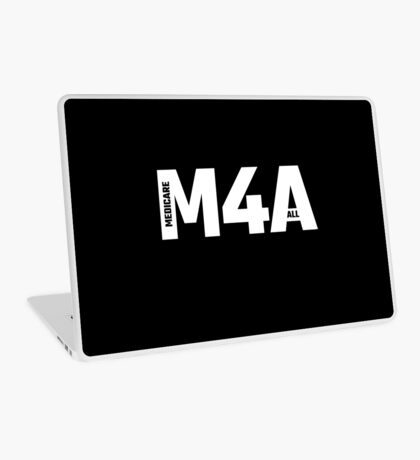 M4A (Medicare for All) White Acronym with Black Text Laptop Skin