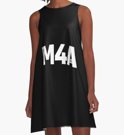 M4A (Medicare for All) White Acronym with Black Text A-Line Dress