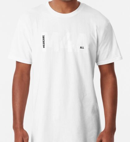 M4A (Medicare for All) White Acronym with Black Text Long T-Shirt