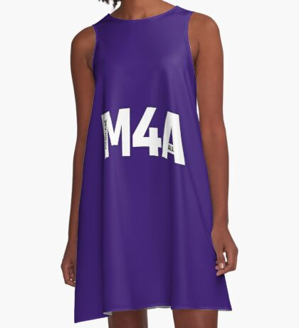 Copy of M4A (Medicare for All) White Acronym with Black Text and Outline A-Line Dress