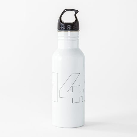 Copy of M4A (Medicare for All) White Acronym with Black Text and Outline Water Bottle
