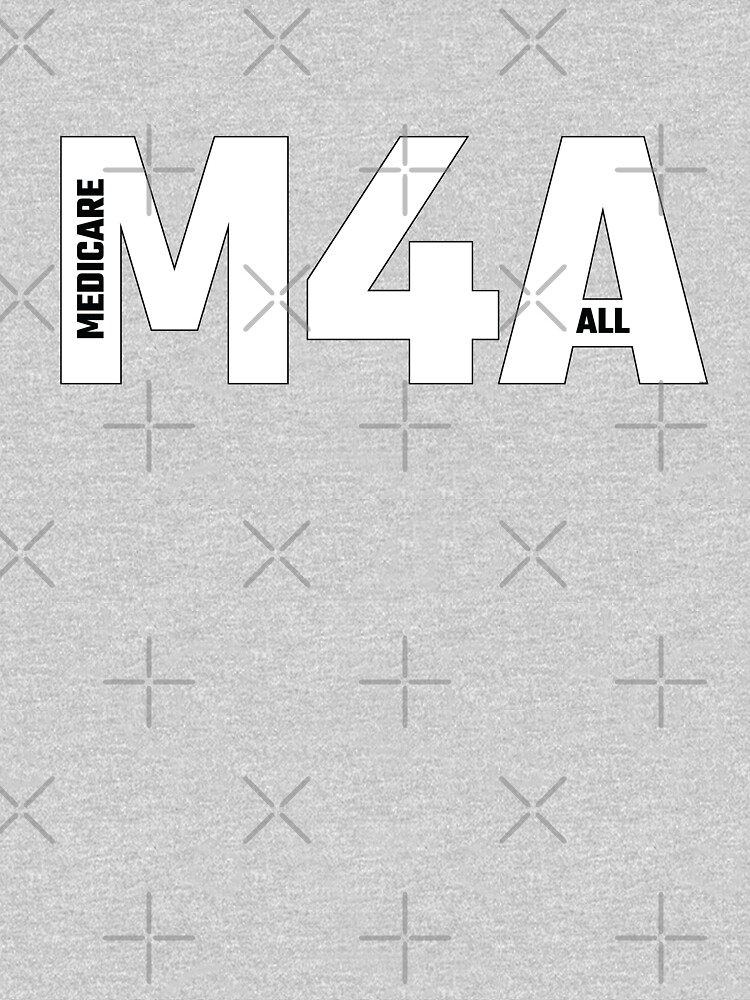 Copy of M4A (Medicare for All) White Acronym with Black Text and Outline by willpate