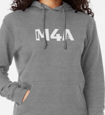 Copy of M4A (Medicare for All) White Acronym with Black Text and Outline Lightweight Hoodie