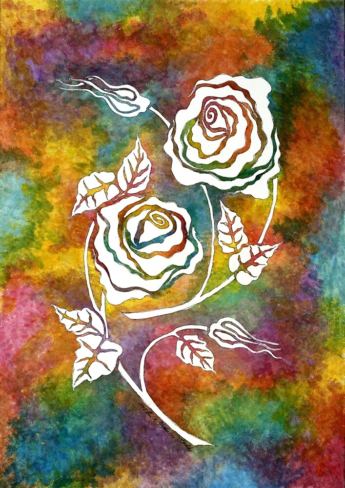 White Roses - A statement piece by Lisafrancesjudd
