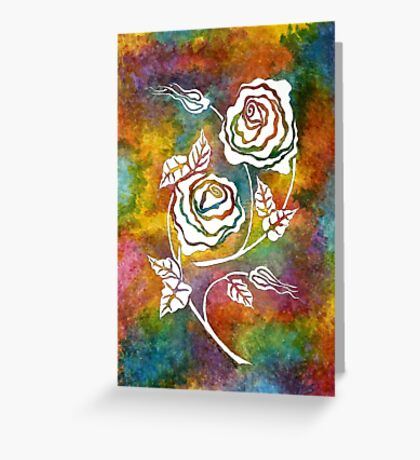 White Roses - A statement piece Greeting Card