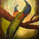 Peacock by JillPerlaArt