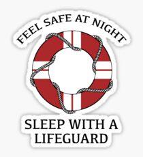 Sleep With A Lifeguard Sticker