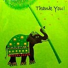 "Thank You Card featured in ""Colour me a rainbow - GREEN"" by ©The Creative  Minds"