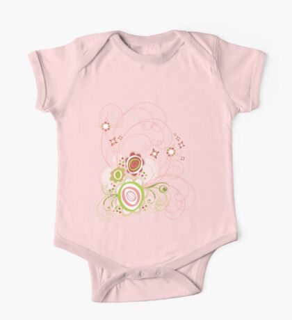 Sweet Groovy Pink Wild Blooms Kids Clothes