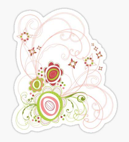 Sweet Groovy Pink Wild Blooms Sticker