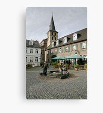 9 Marktbrunnen, Meerbusch Lank-Latum, NRW, Germany. Canvas Print