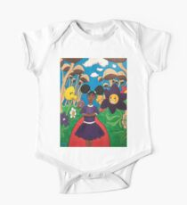 aniyah in the land of wonder Short Sleeve Baby One-Piece