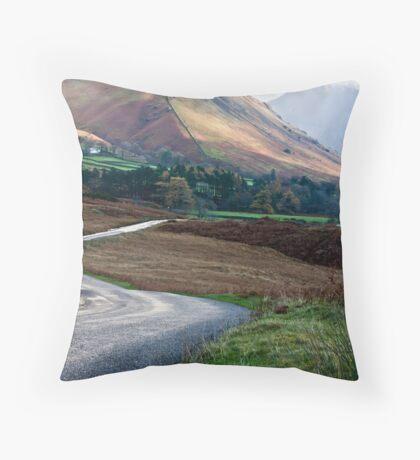 Lake Road - Wast Water Throw Pillow