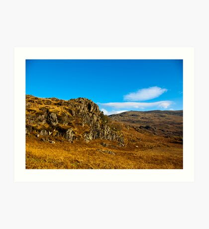 Colours of Autumn in the Duddon Valley Art Print