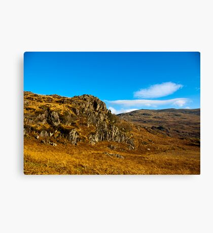 Colours of Autumn in the Duddon Valley Canvas Print