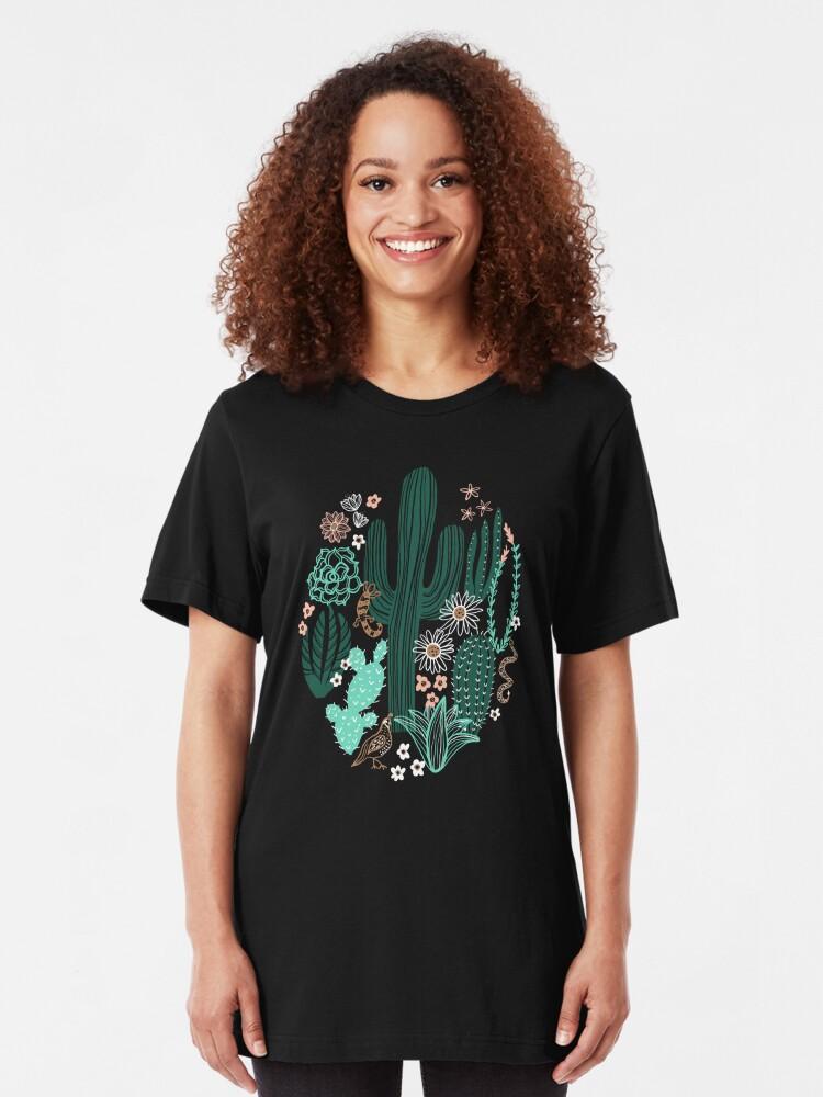 Alternative Ansicht von Sonora-Landschaft Slim Fit T-Shirt