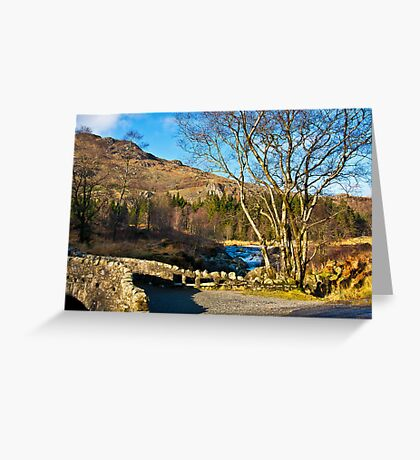 Birks Bridge over the River Duddon Greeting Card