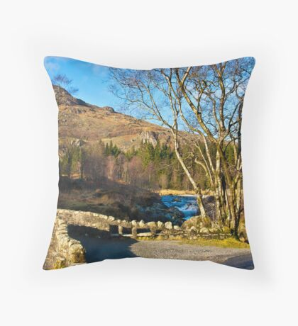 Birks Bridge over the River Duddon Throw Pillow