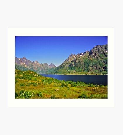 The New Seven Wonders Of The World. Lofoten Islands . Anno Domini 2007 . Doctor Faustus. Art Print