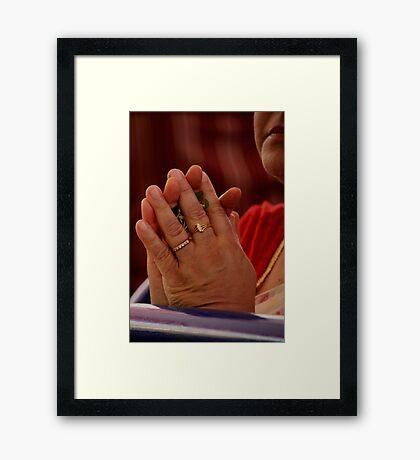 Prayers Framed Print
