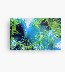 Mosaic Palms Metal Print