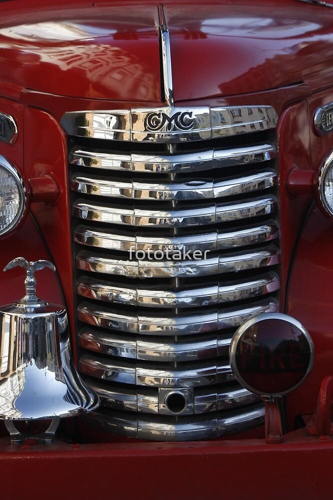 Old Fire Truck Grille by fototaker