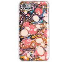 Psychedelic Retro Marbled Paper iPhone Case/Skin
