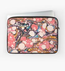 Psychedelic Retro Marbled Paper Pepe Psyche Laptop Sleeve