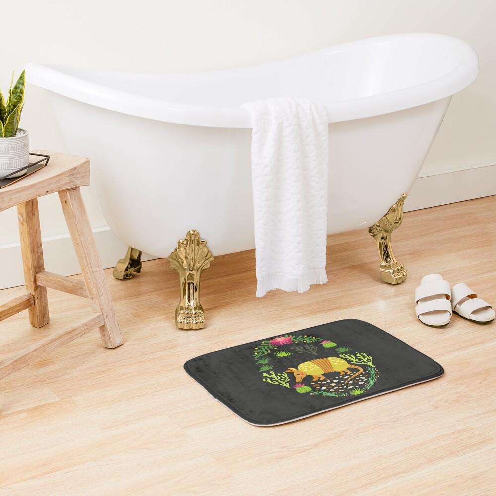 Yellow armadillo Bath Mat