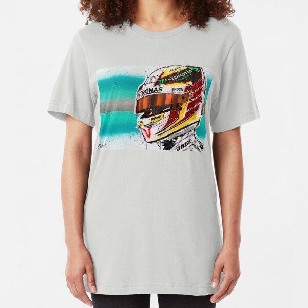 Lewis Hamilton F1 graffiti painting by DRAutoArt Slim Fit T-Shirt