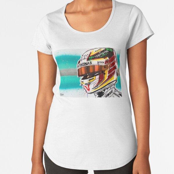 Lewis Hamilton F1 graffiti painting by DRAutoArt Premium Scoop T-Shirt