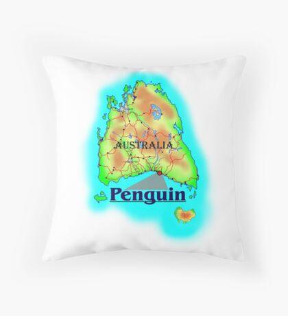 Penguin - Tasmania Throw Pillow