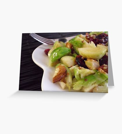 Warm Brussels Sprouts Salad Greeting Card