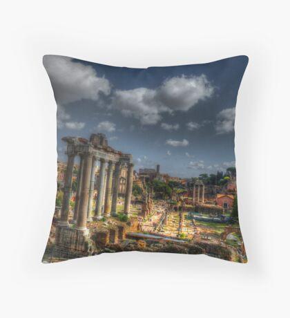 Roman Acheological Dig Throw Pillow