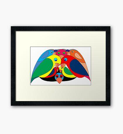 Colourful parrots Framed Print