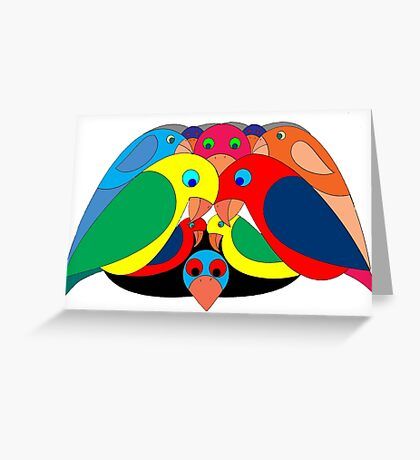 Colourful parrots Greeting Card