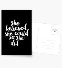 Sie glaubte, sie könnte so tat sie Postkarten