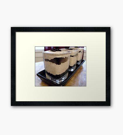 Cookies & Creme Dessert Shots Framed Print